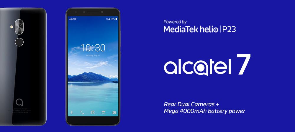 Alcatel 7 powered by MediaTek Helio P23