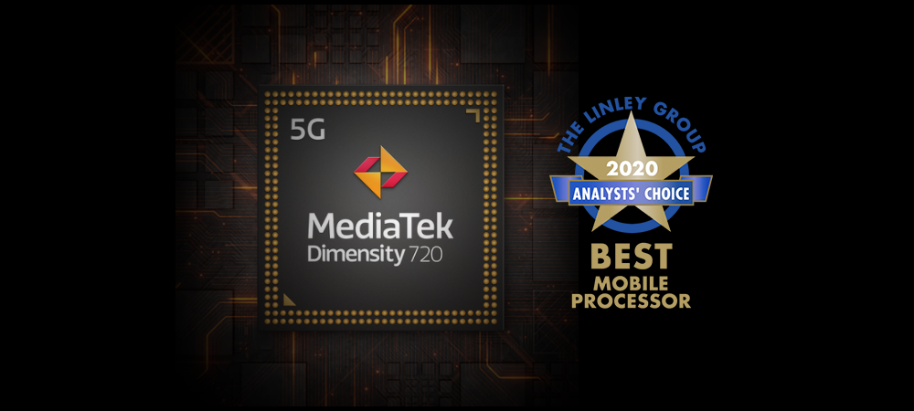 Dimensity 720 named 'Best Mobile Processor' in The Linley Group's Analysts' Choice Award 2020