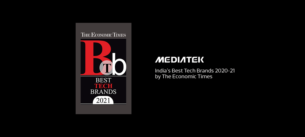 MediaTek recognized as one of India's Best Tech Brands 2020-21 by the Economic Times