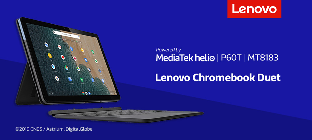 Media love the Lenovo Chromebook Duet, powered by MediaTek