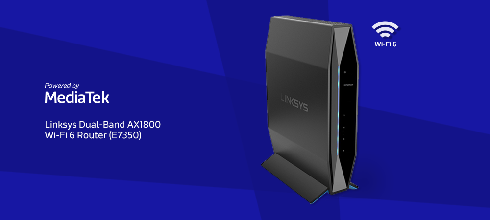 Linksys Dual-Band AX1800 WiFi 6 Router (E7350)