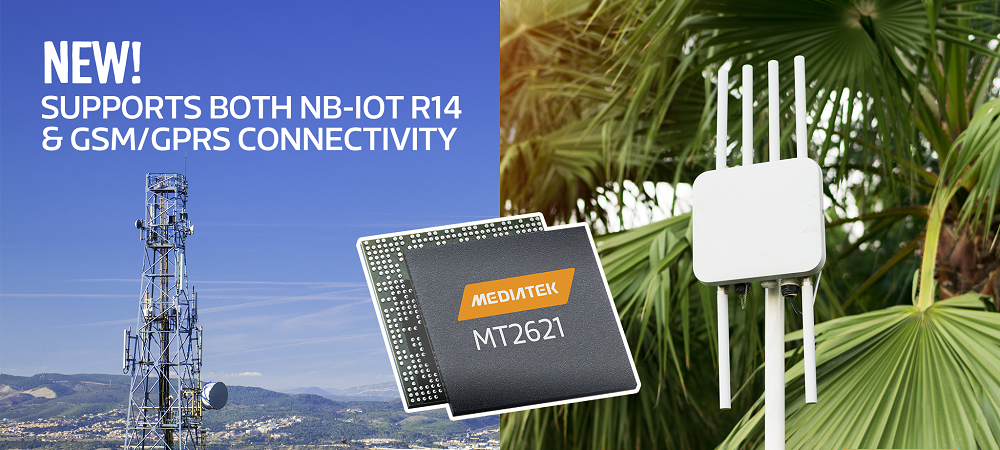 MT2621 - Industry first NB-IoT and GSM/GPRS dual-mode IoT platform with innovative SSDS
