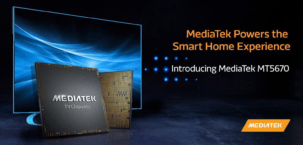 The MT5670 delivers AI-enhanced UltraHD smart TVs