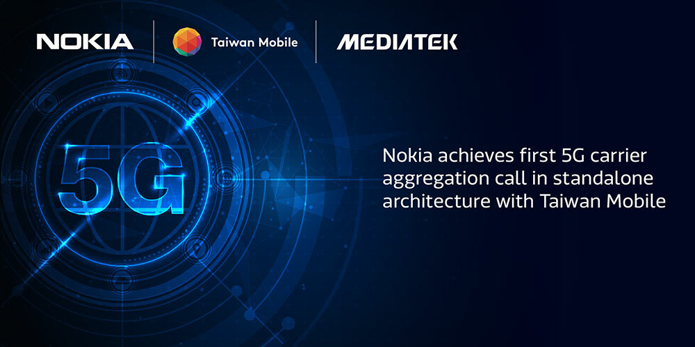 Nokia, Taiwan Mobile and MediaTek collaborate on 5G CA trial