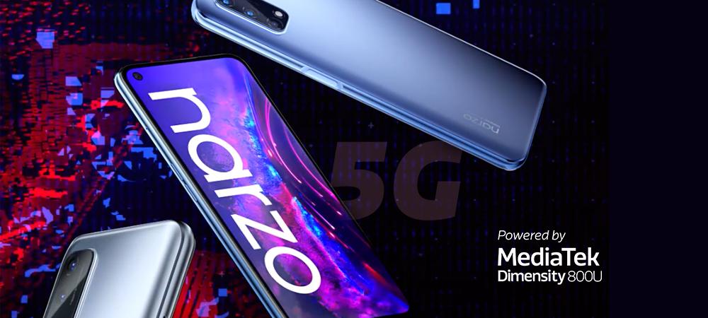 realme Narzo 30 Pro 5G powered by MediaTek Dimensity 800U