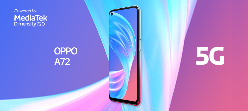 OPPO A72 5G powered by Dimensity 720