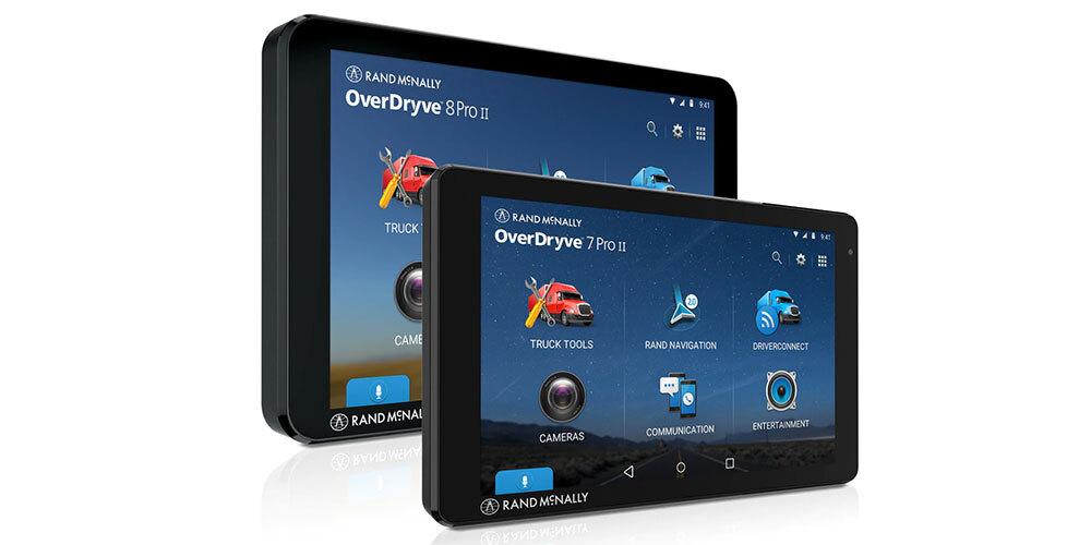 Rand McNally OverDryve 7 II and OverDryve 8 Pro II, powered by MediaTek
