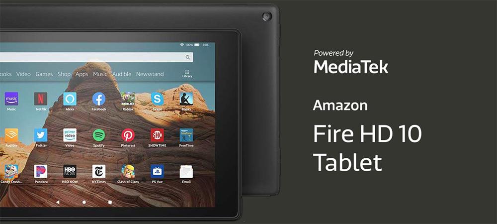 Amazon Fire HD 10 tablet is powered by MediaTek