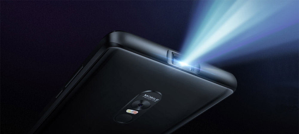 Blackview Max 1 smartphone with laser projector