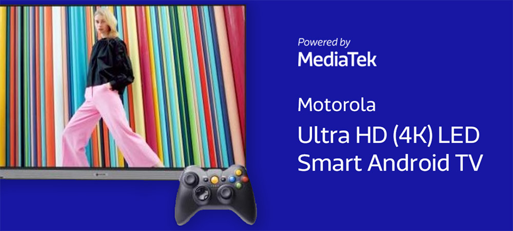 Motorola 164cm (65 inch) Ultra HD (4K) Smart TV powered by MediaTek