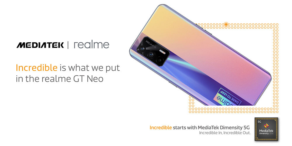 realme GT Neo powered by MediaTek Dimensity 1200