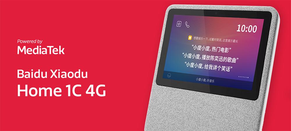 Baidu Xiaodu at Home 1C 4G mobile smart speaker powered by MediaTek
